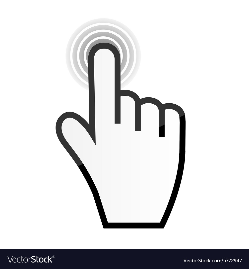 mouse hand cursor royalty free vector image vectorstock rh vectorstock com cursor vector hand cursor vector image