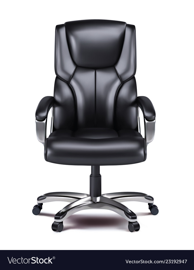 Office chair isolated realistic 3d