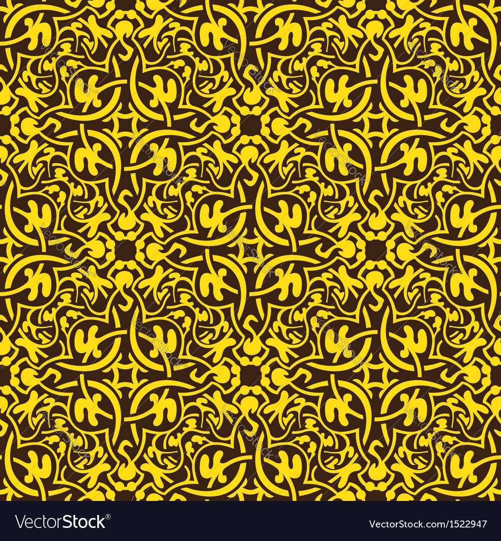 Yellow floral seamless wallpaper pattern