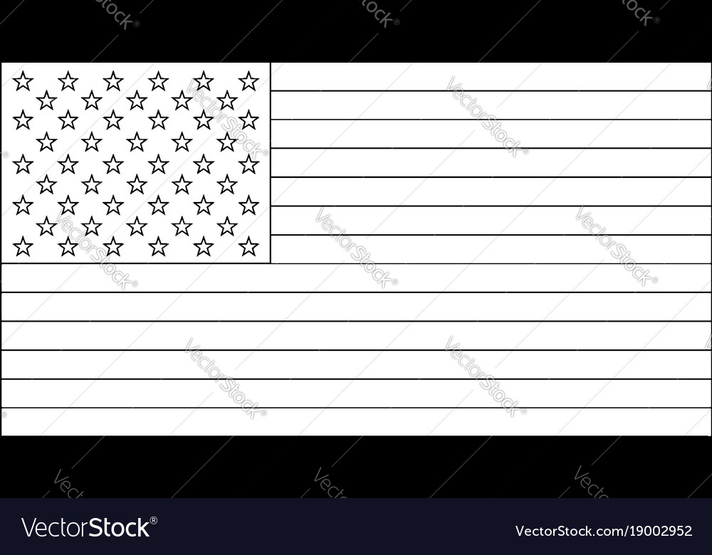 50 star united states flag 1960 vintage royalty free vector