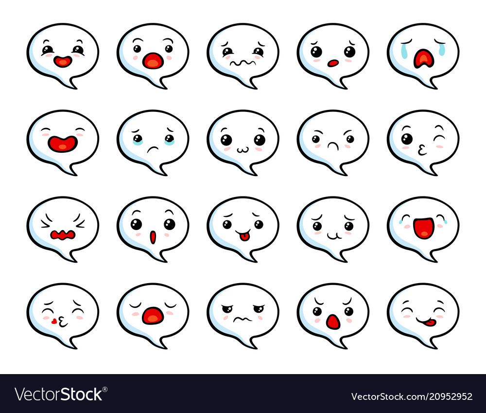 Asian cute emoji