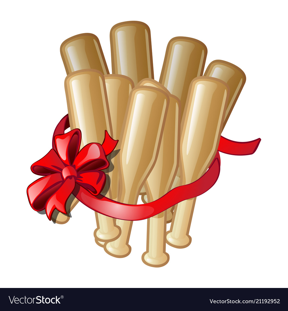 Gift in the form of bundles of baseball bats with