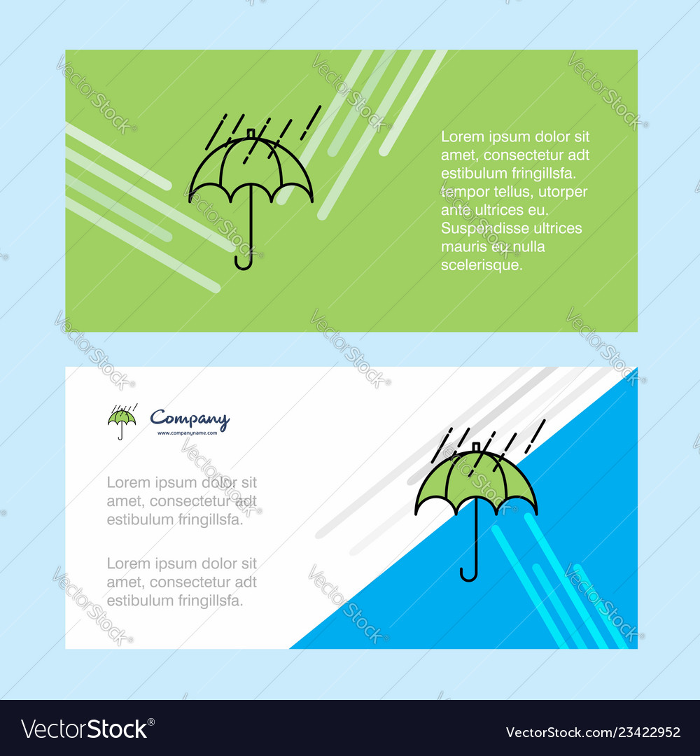 Raining and umbrella abstract corporate business