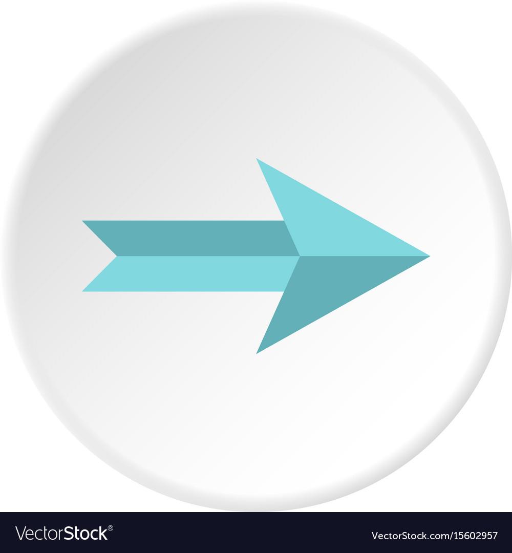 Big arrow icon circle