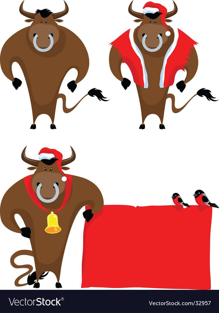 Cartoon bull vector image