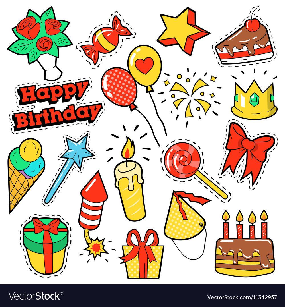 Стикеры с днем рождения на открытки