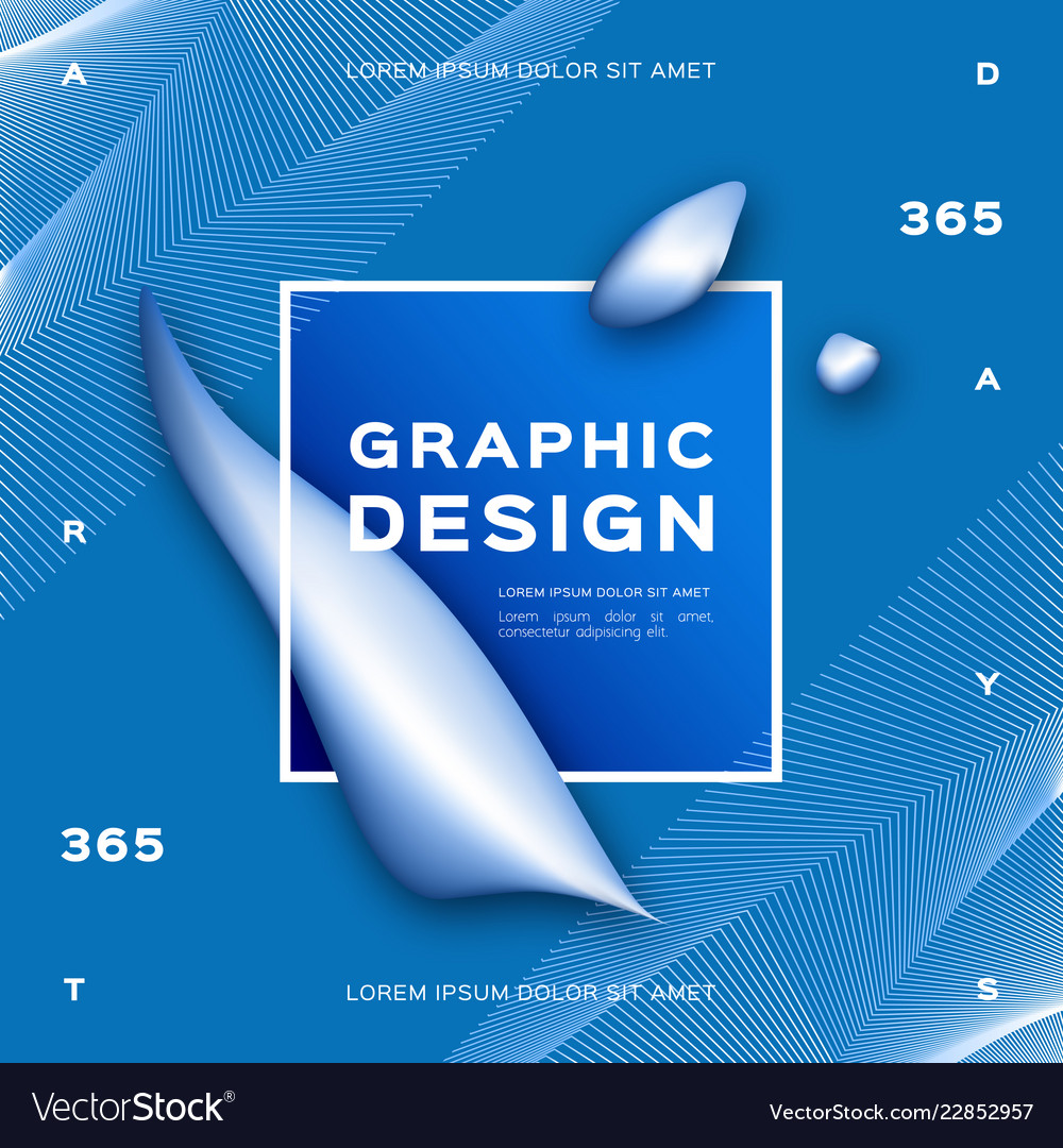 Geometric abstract blue background gradient fluid