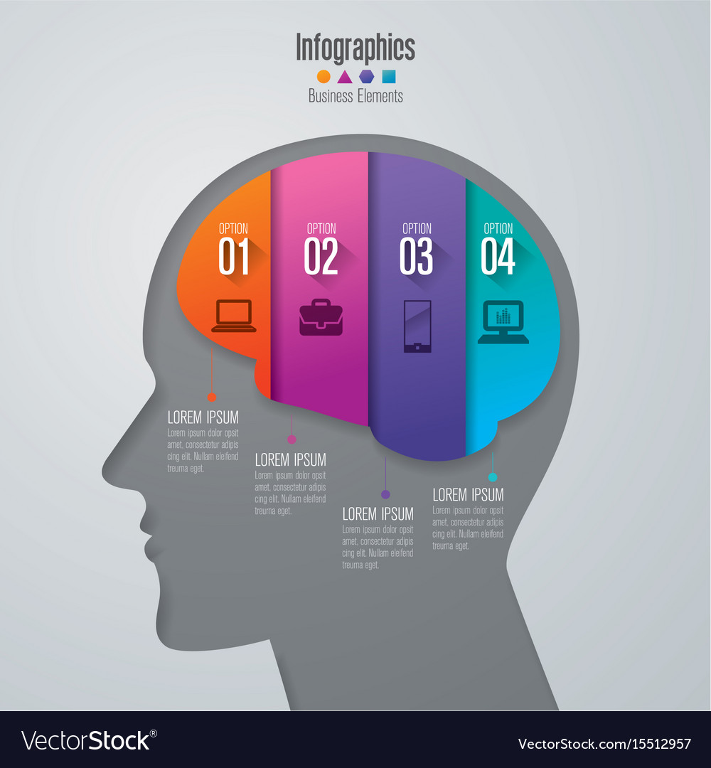 Infographics design with 4 options