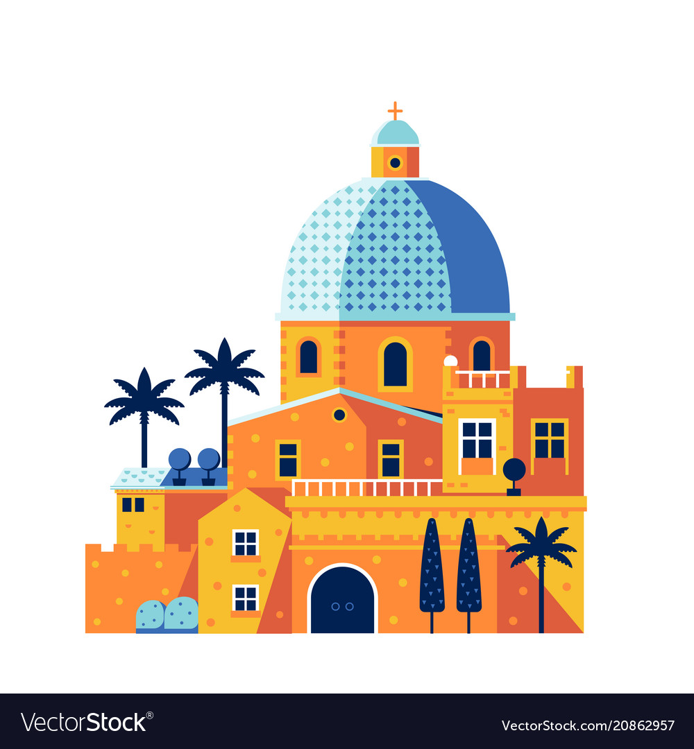 Mediterranean classic cathedral or church