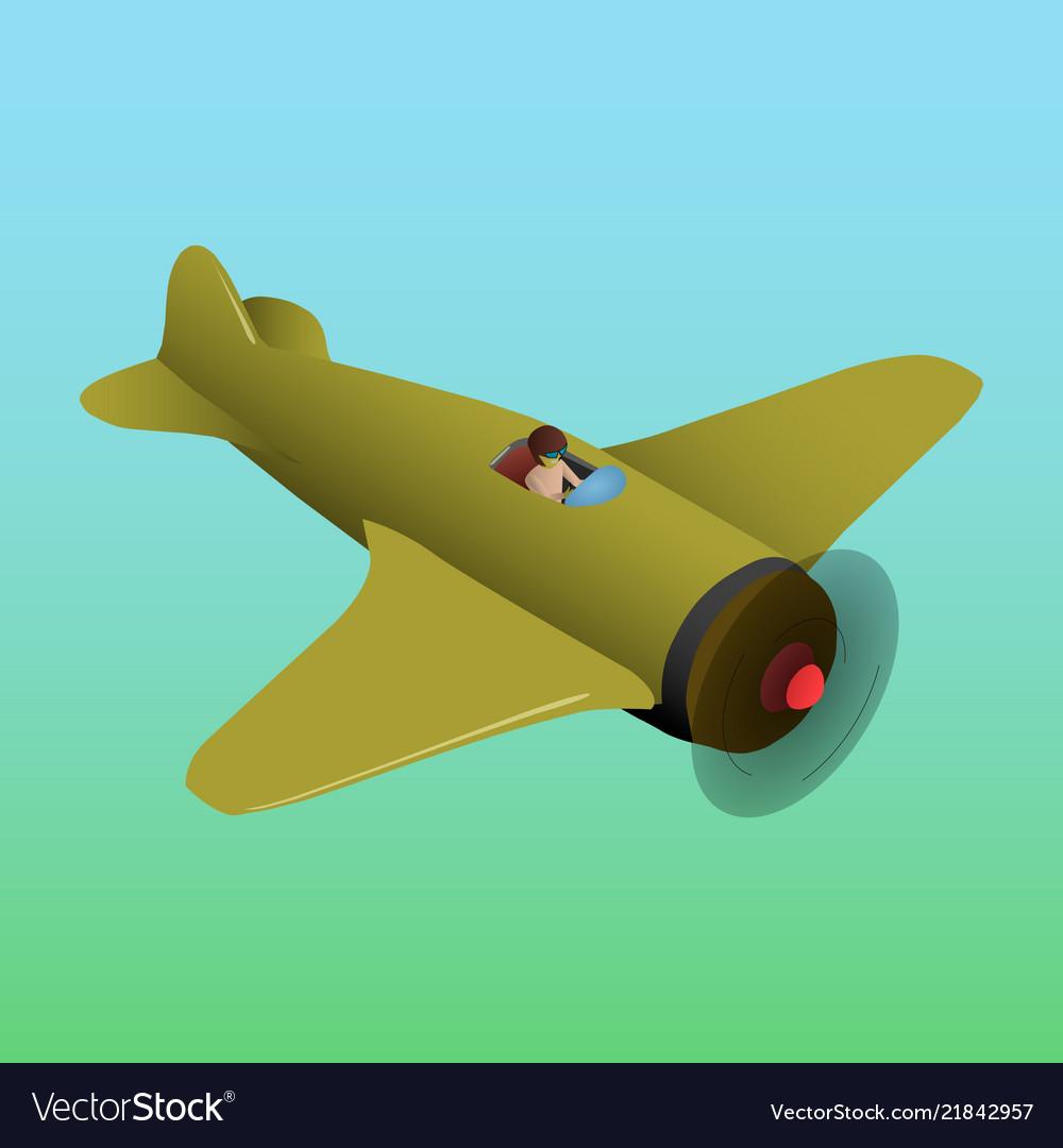 Old plane is isometric