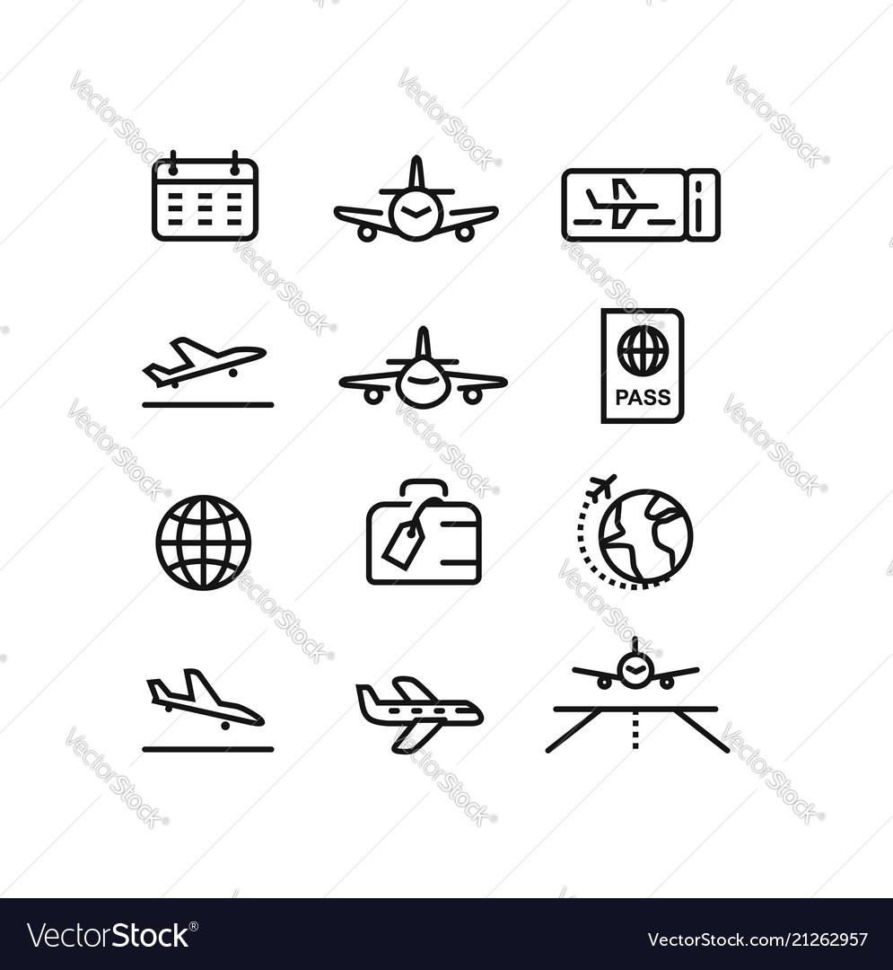 Plane flight airport