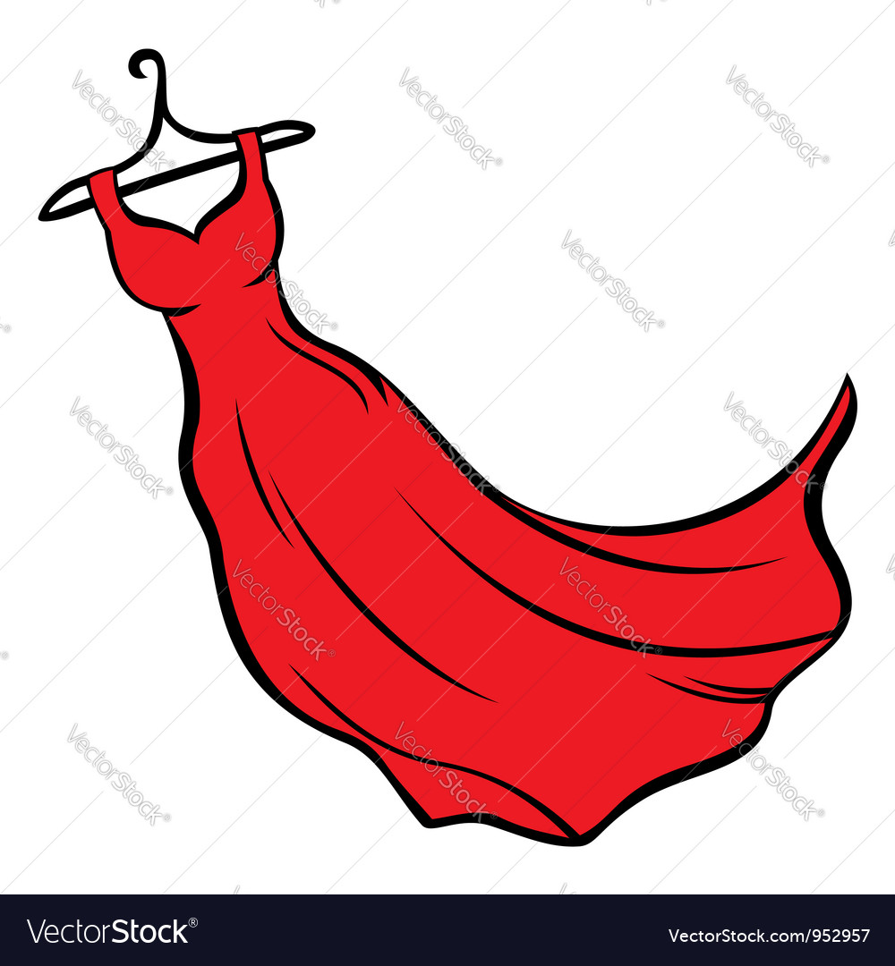 Red dress vector image