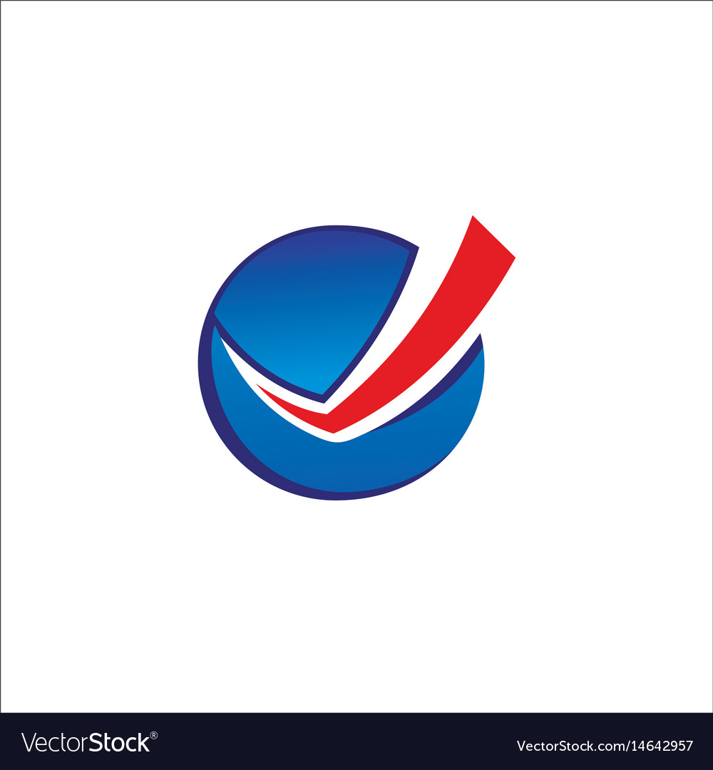 Round check list business logo vector image