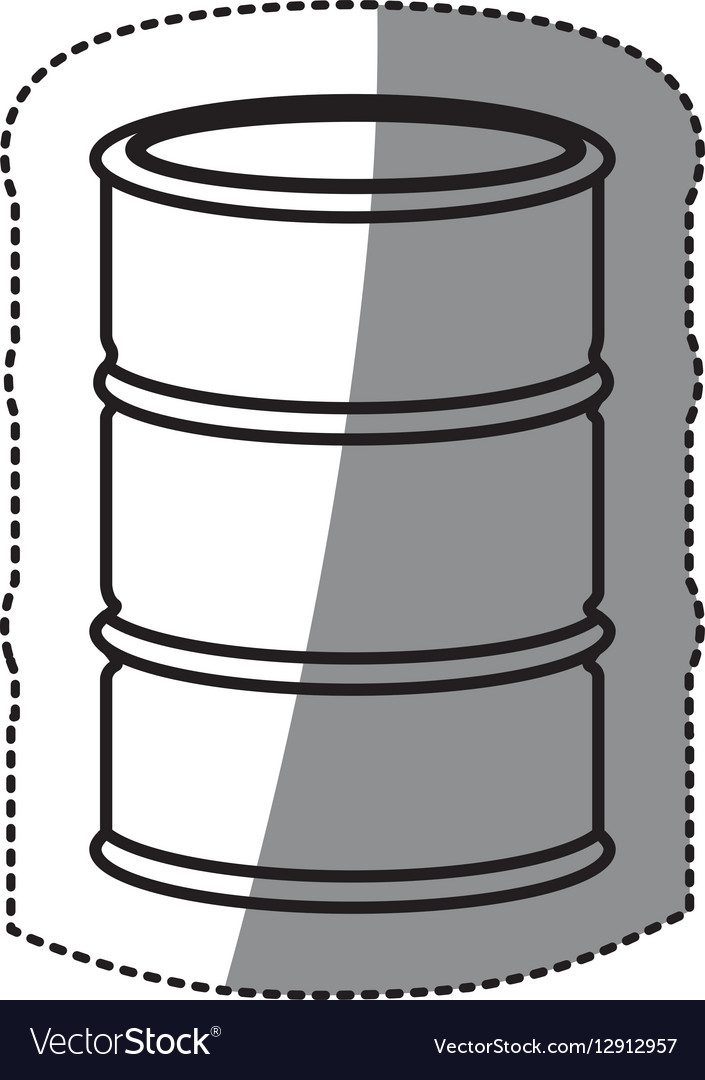 Silhouette sticker metallic barrel icon design
