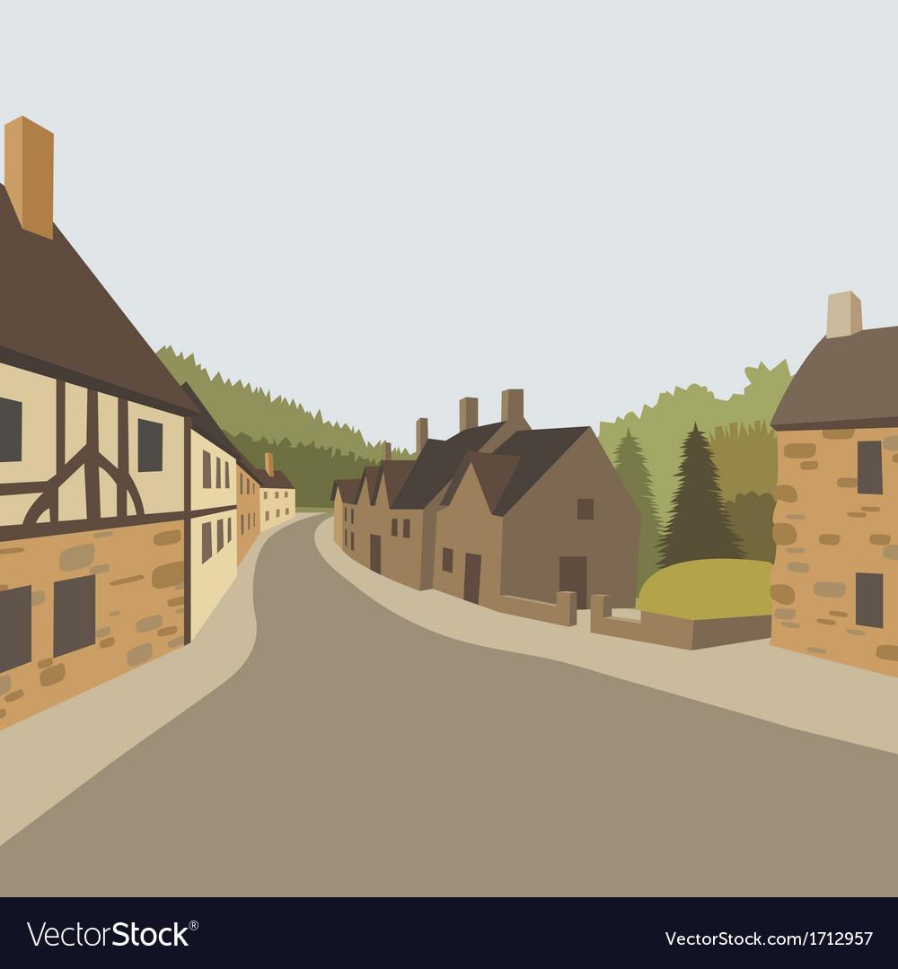 Village background vector image