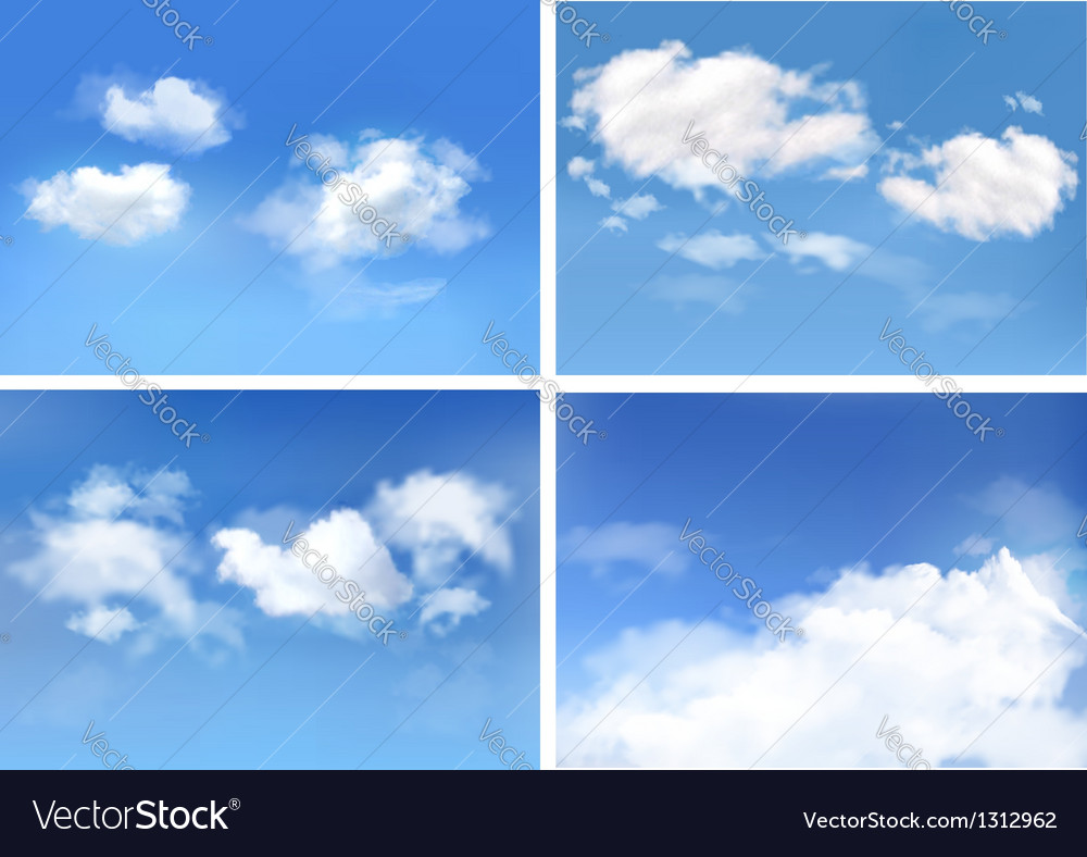 Blue sky with clouds backgrounds vector image