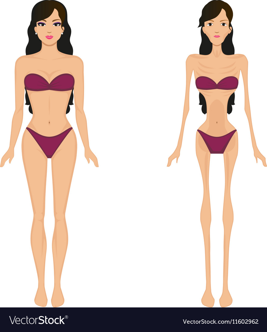 female anorexia women bulimia royalty free vector image
