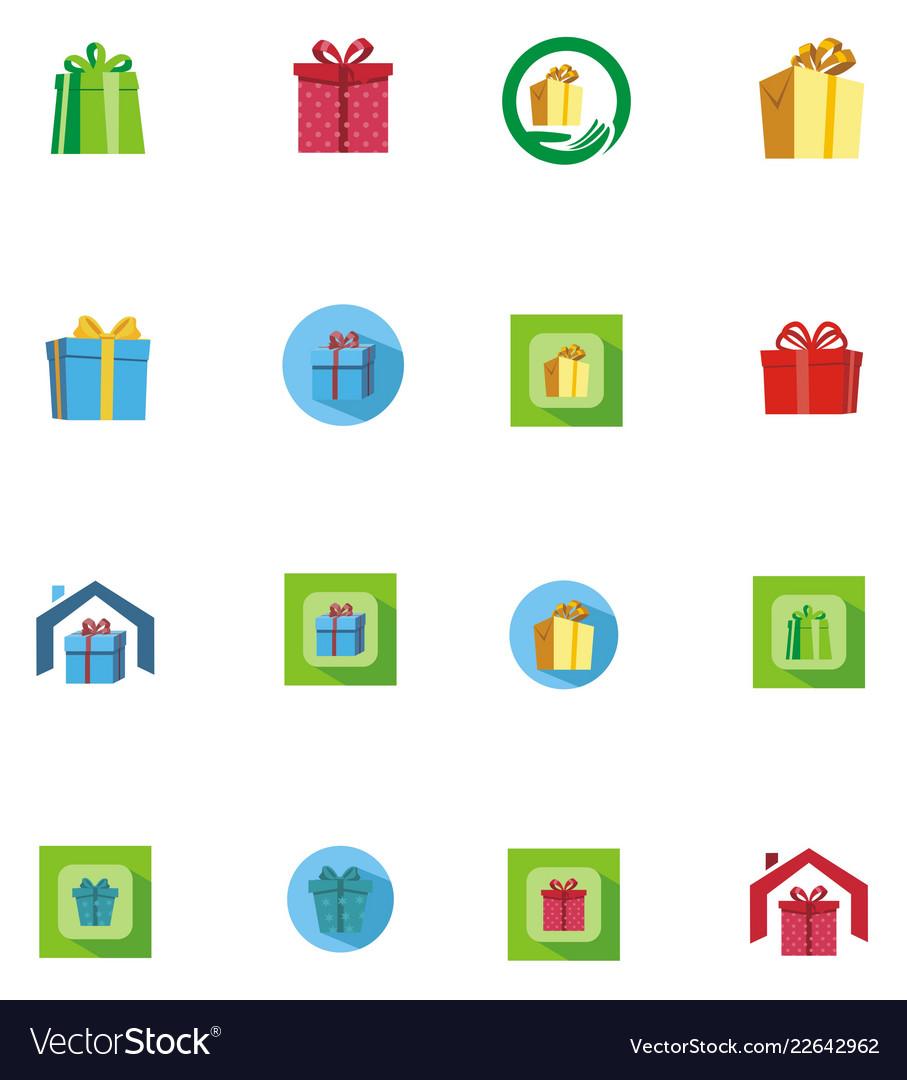 Gift logo background