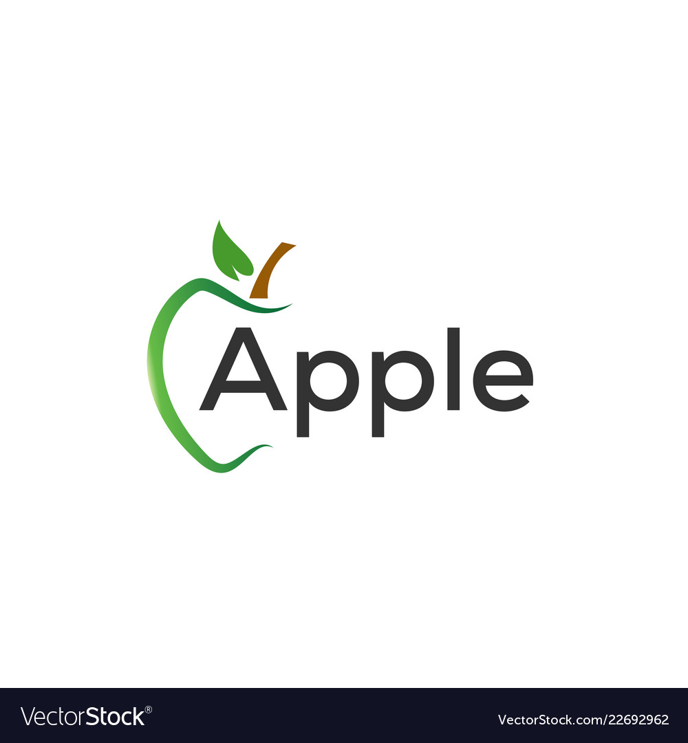 Green apple graphic design template