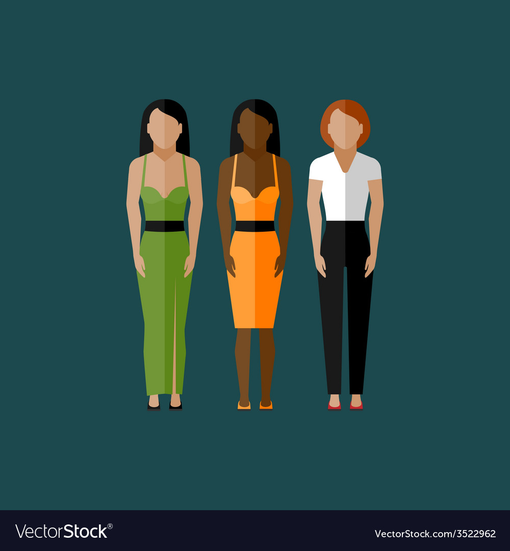 Women appearance icons people flat icons vector image