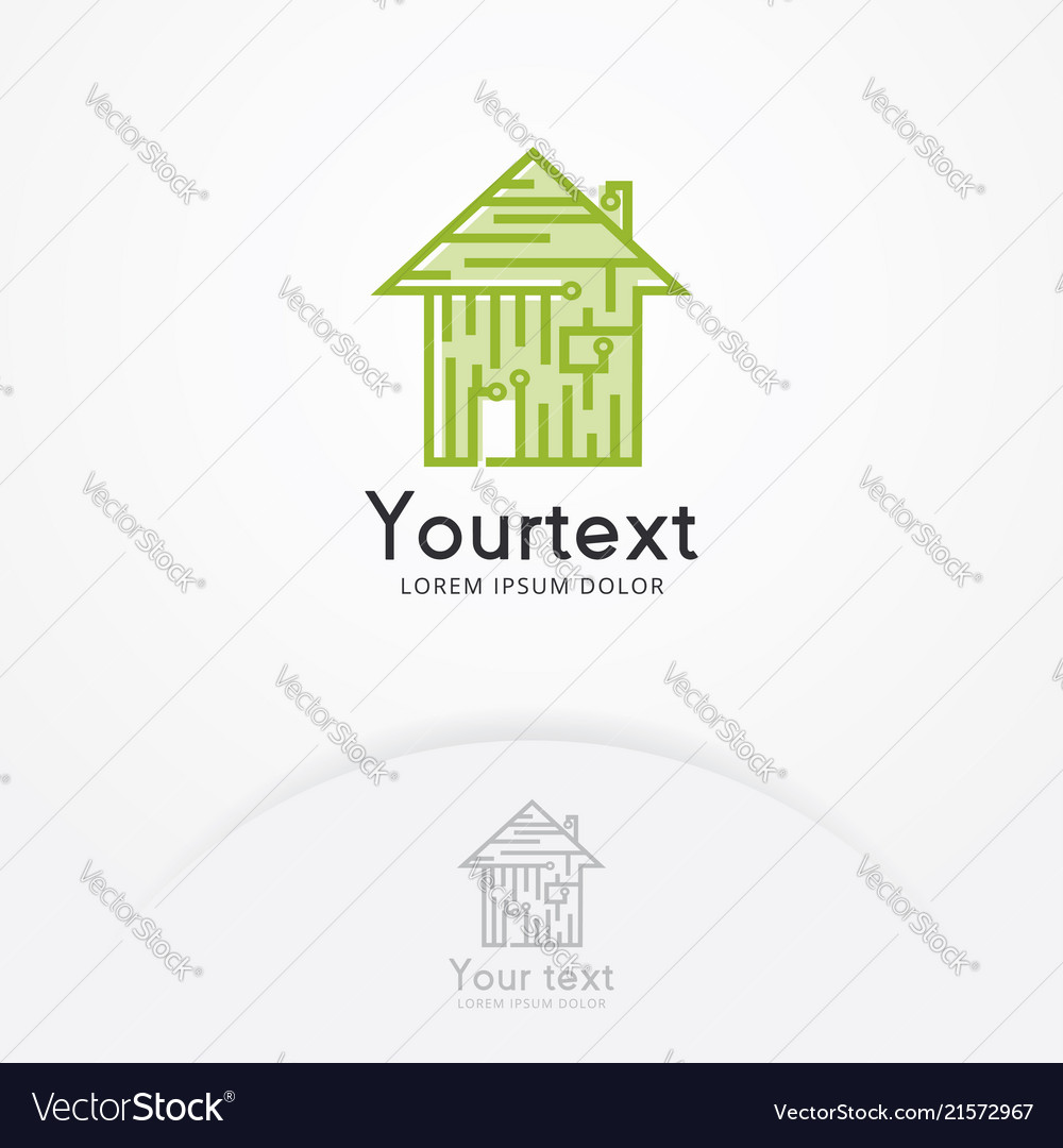 Circuit Board House Icon Royalty Free Vector Image Electricityhouse Electrical Wiring Smart