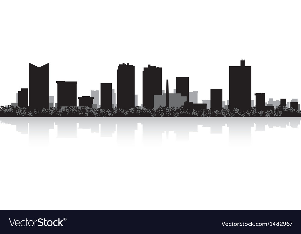 Fort Worth USA city skyline silhouette