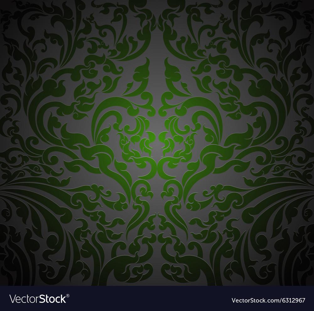 Green Floral Art Royalty Free Vector Image Vectorstock