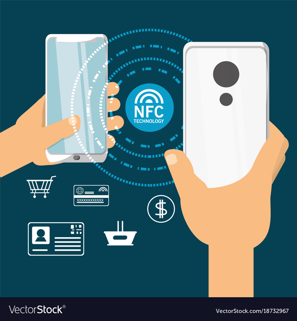 Nfc payment design concept Royalty Free Vector Image
