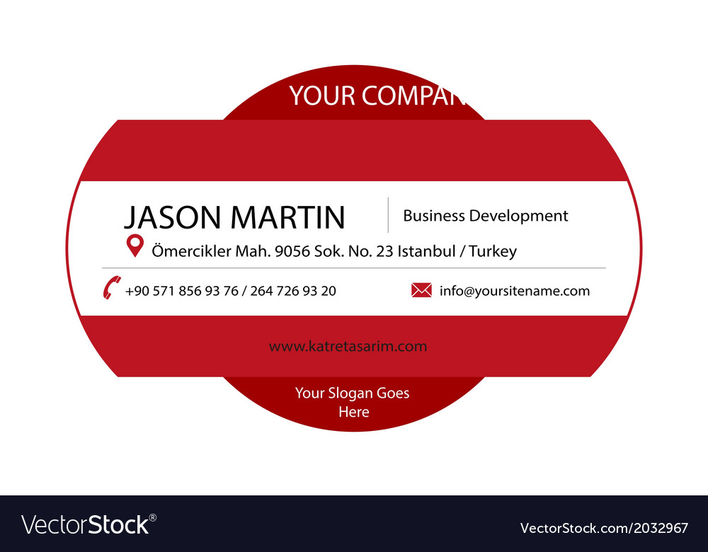 Red decorative business card