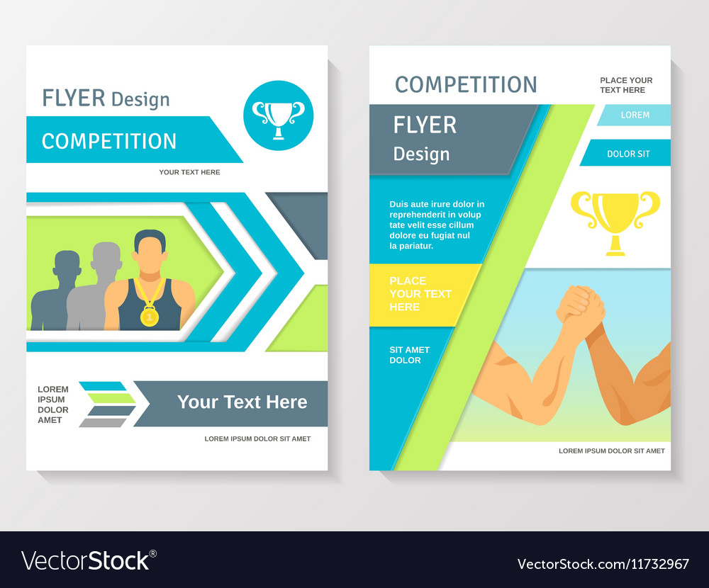 Sports Competition Flyer Template Royalty Free Vector Image