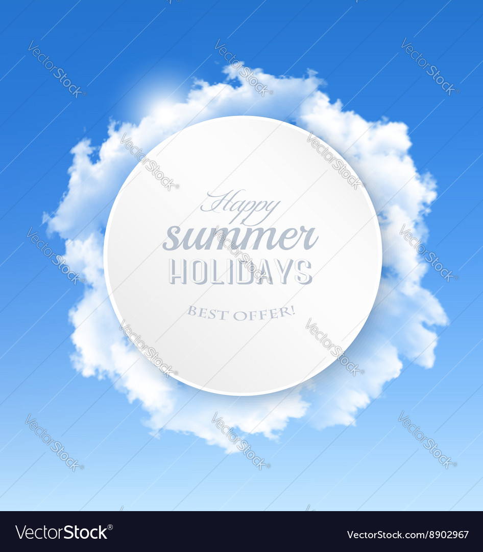 Summer background with blue sky and clouds