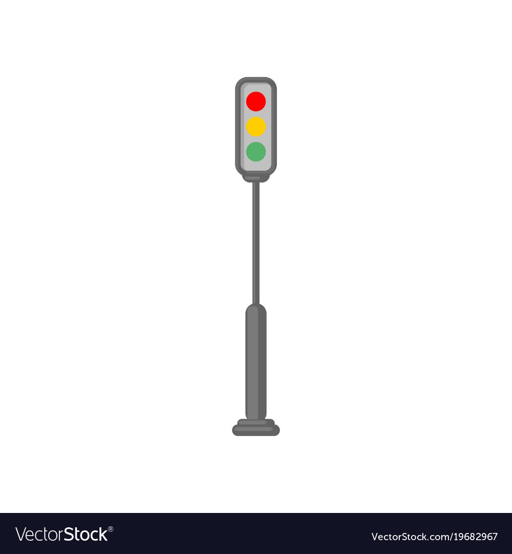 Traffic light road sign cartoon