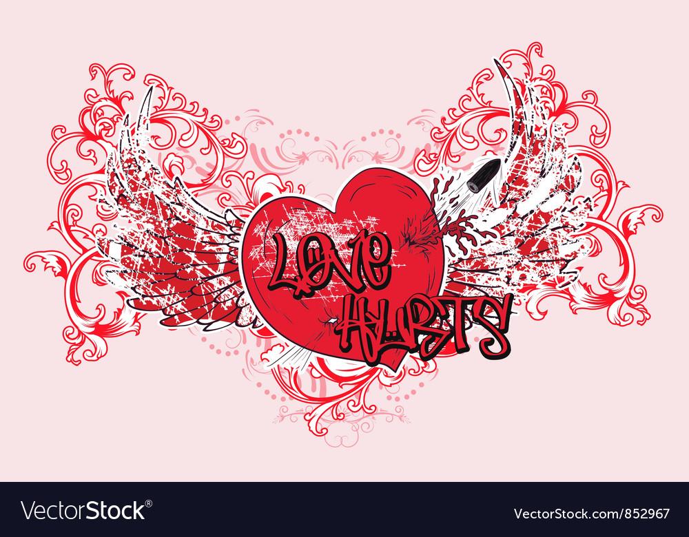 Vintage Valentine T Shirt Design Royalty Free Vector Image