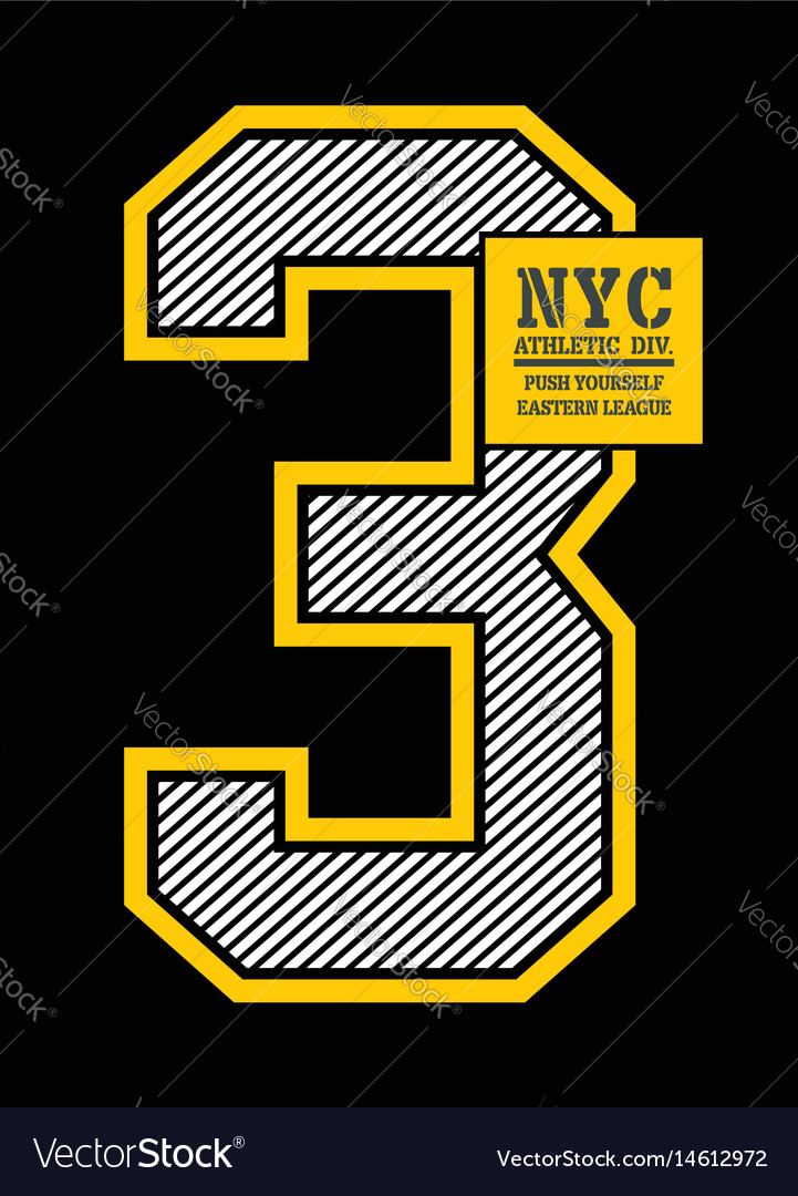 Athletic number 3 nyc
