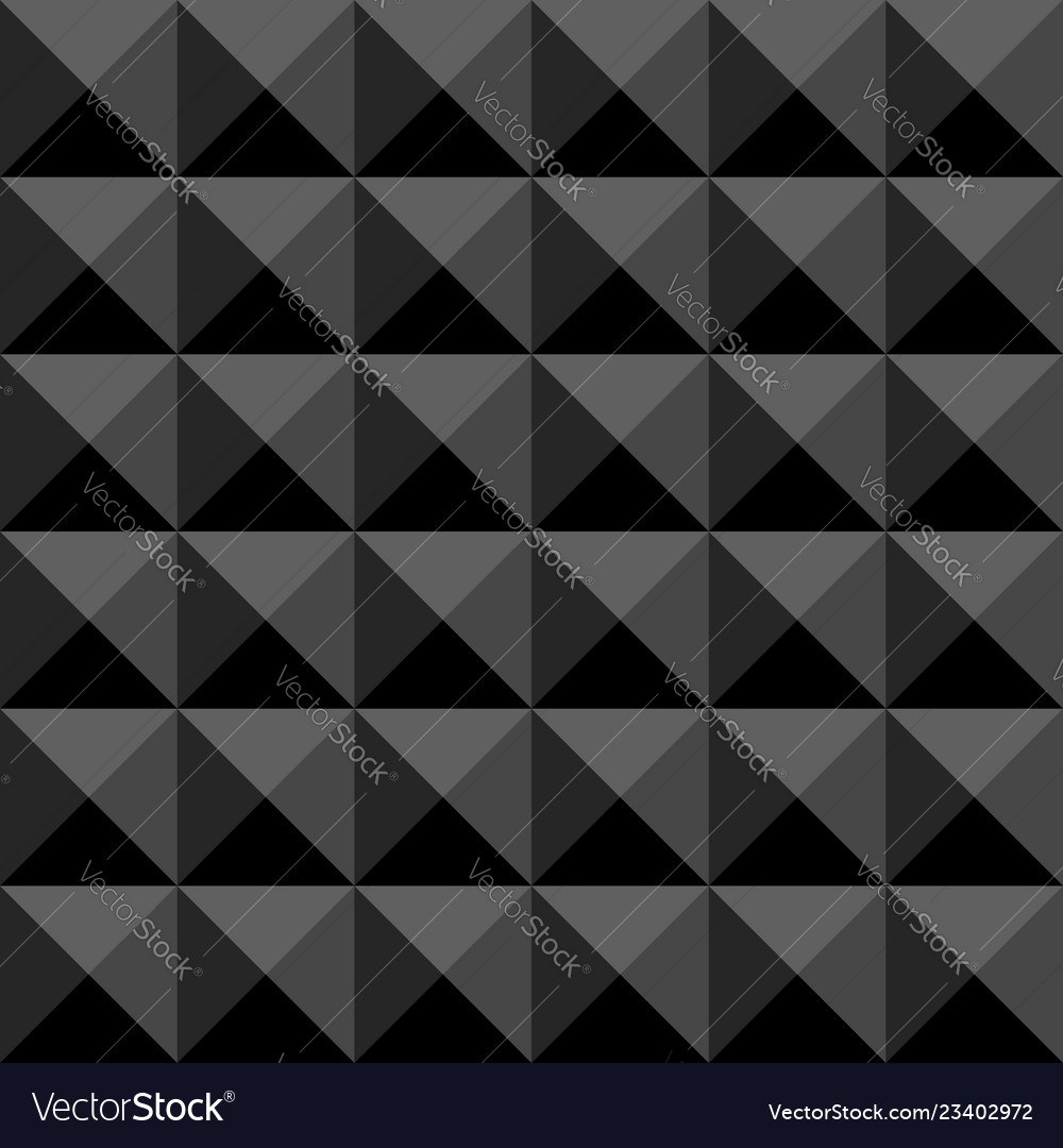 Black polygonal abstract seamless pattern