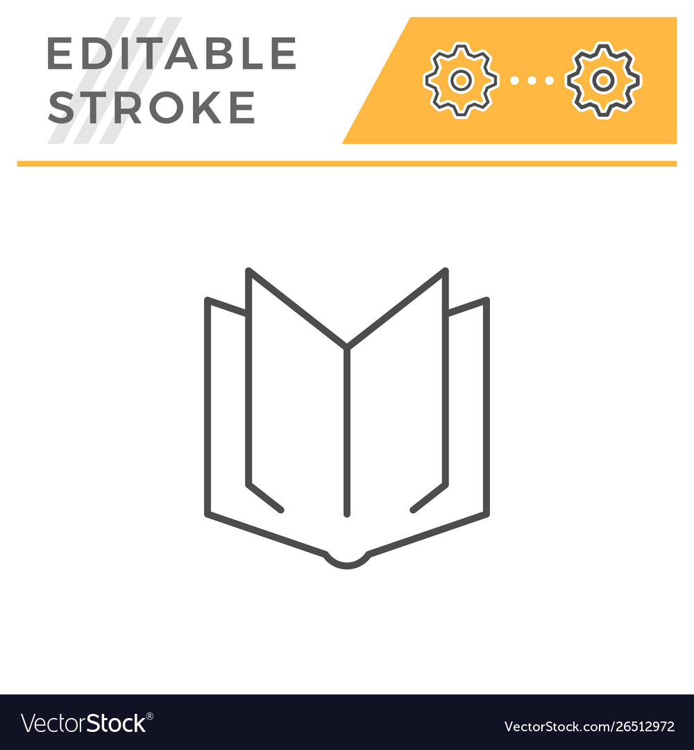 Book editable stroke line icon