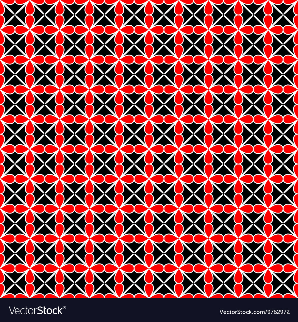 Flower and line geometric seamless pattern 2307 vector image