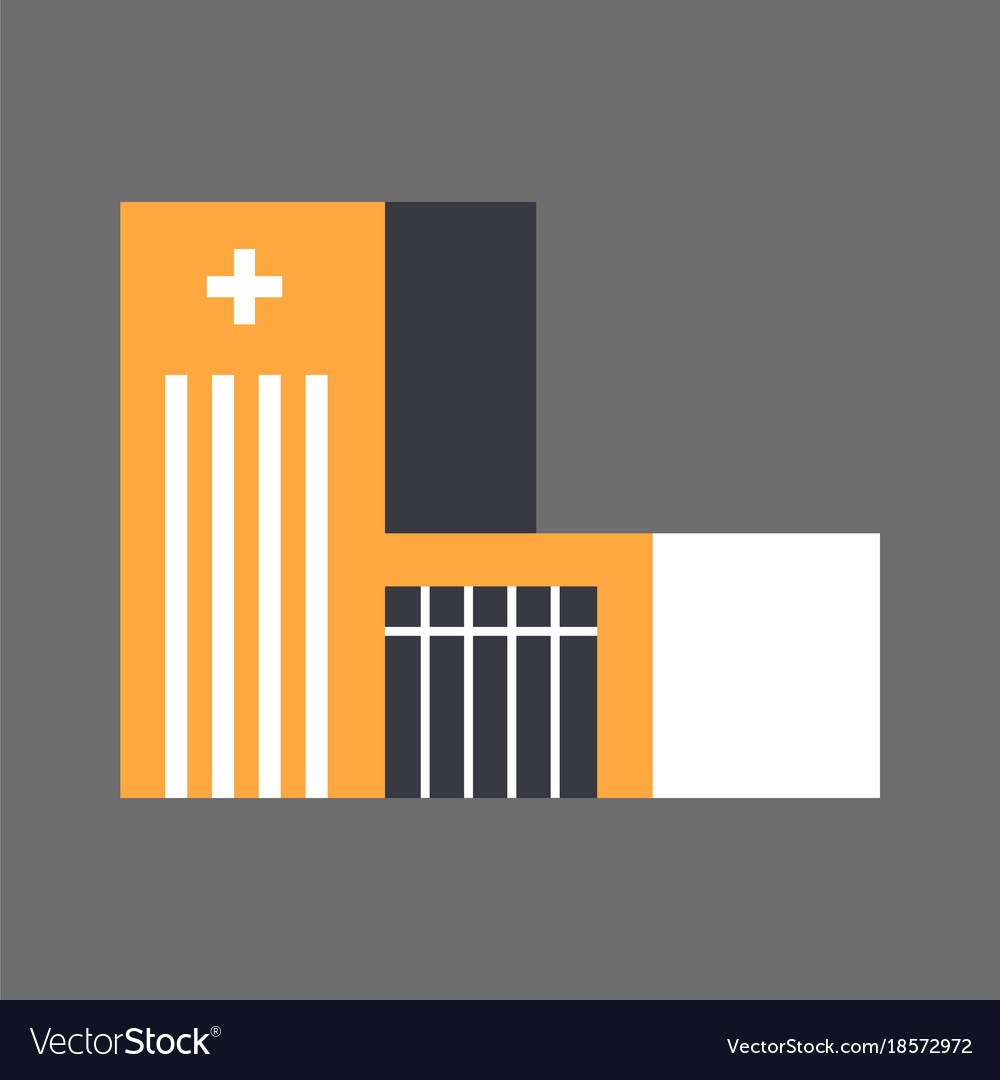 Hospital building icon medical treatment concept