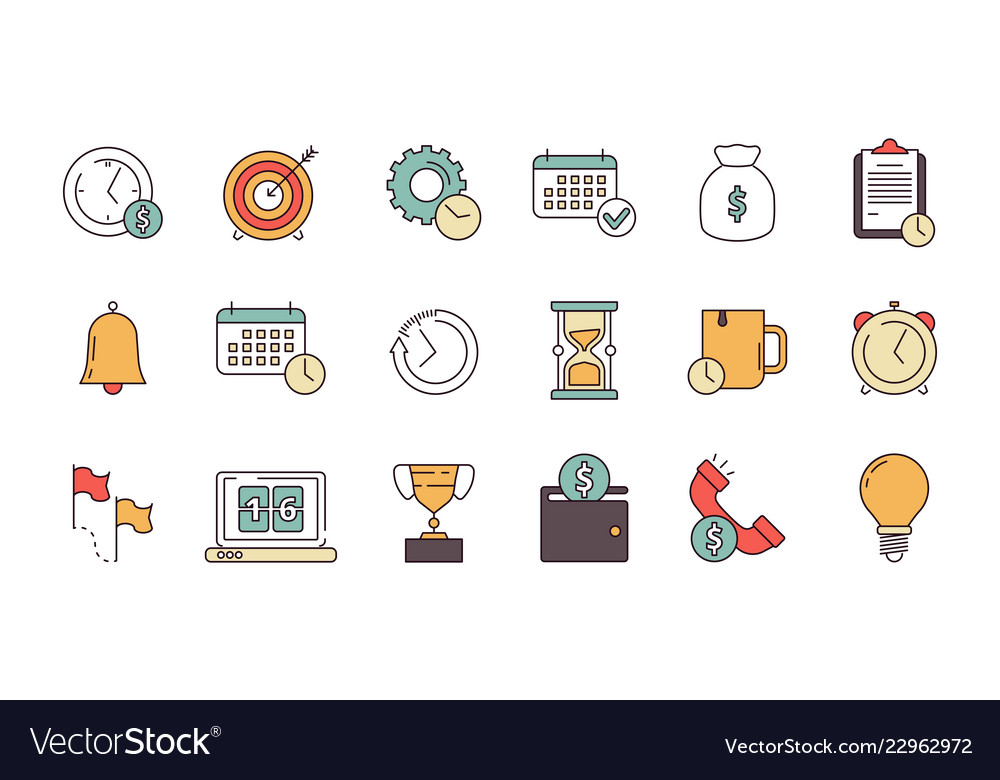Productive management icon business productivity
