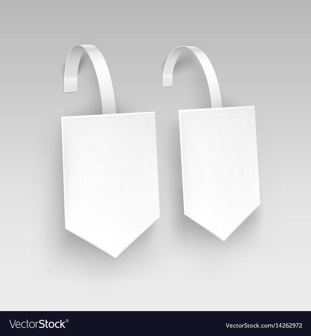 White square arrow paper plastic price wobbler