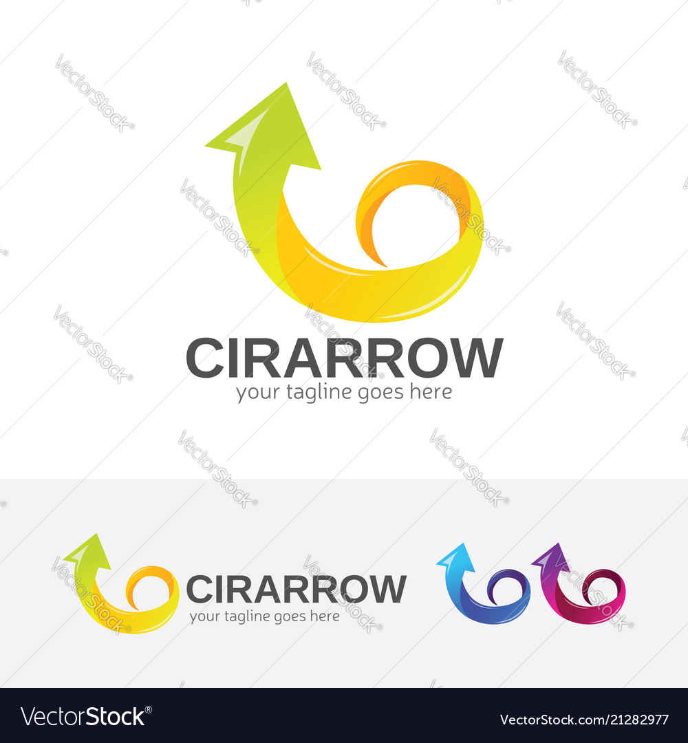 Circular arrow logo design