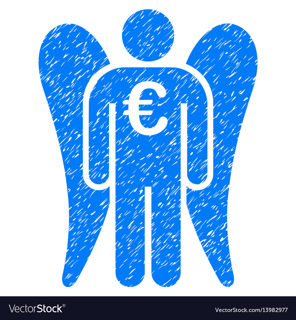 Euro angel investor icon grunge watermark
