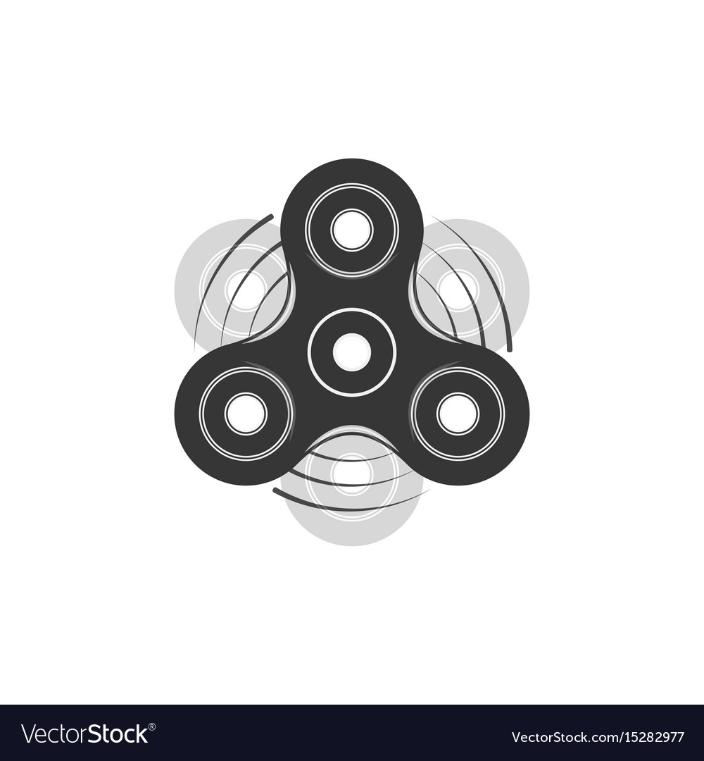 fidget spinner graphic element template royalty free vector