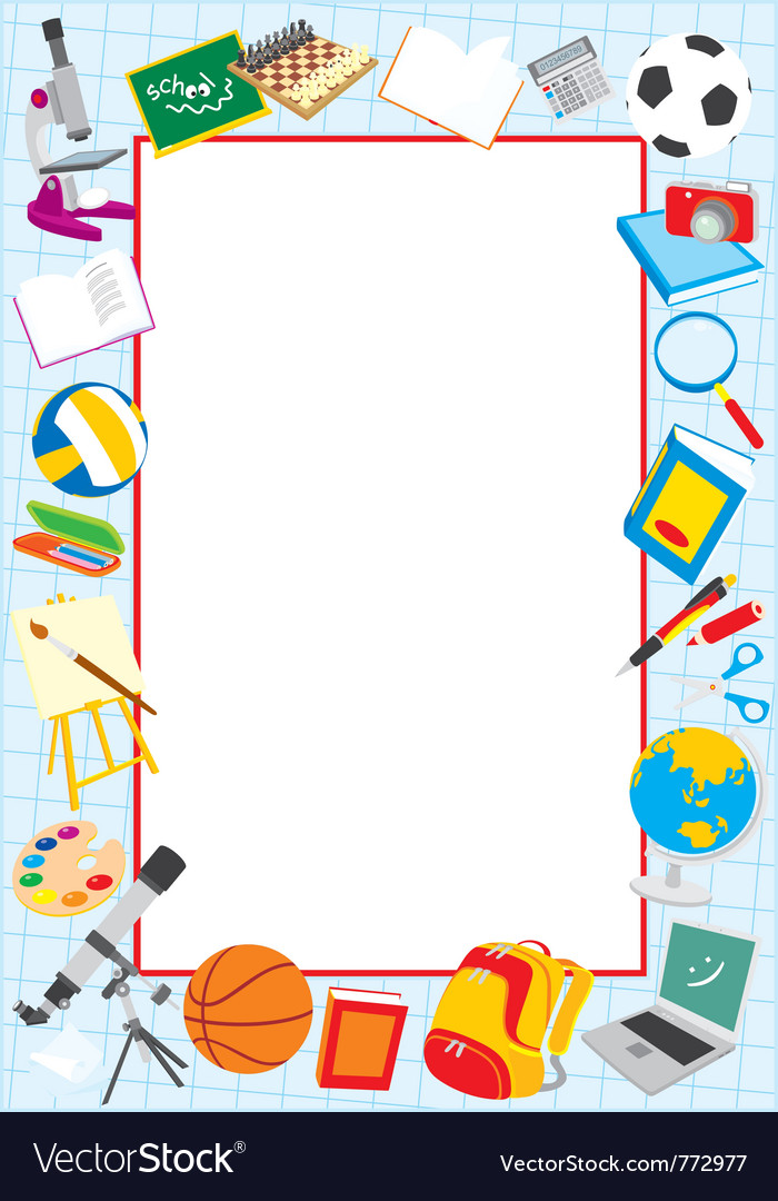 school border royalty free vector image vectorstock