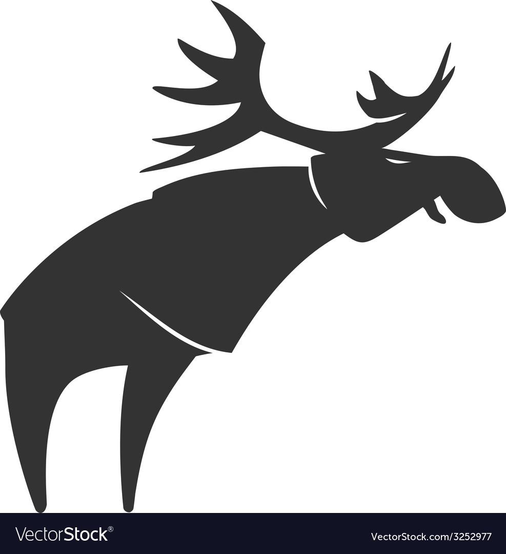 Stylized silhouette moose logo emblem