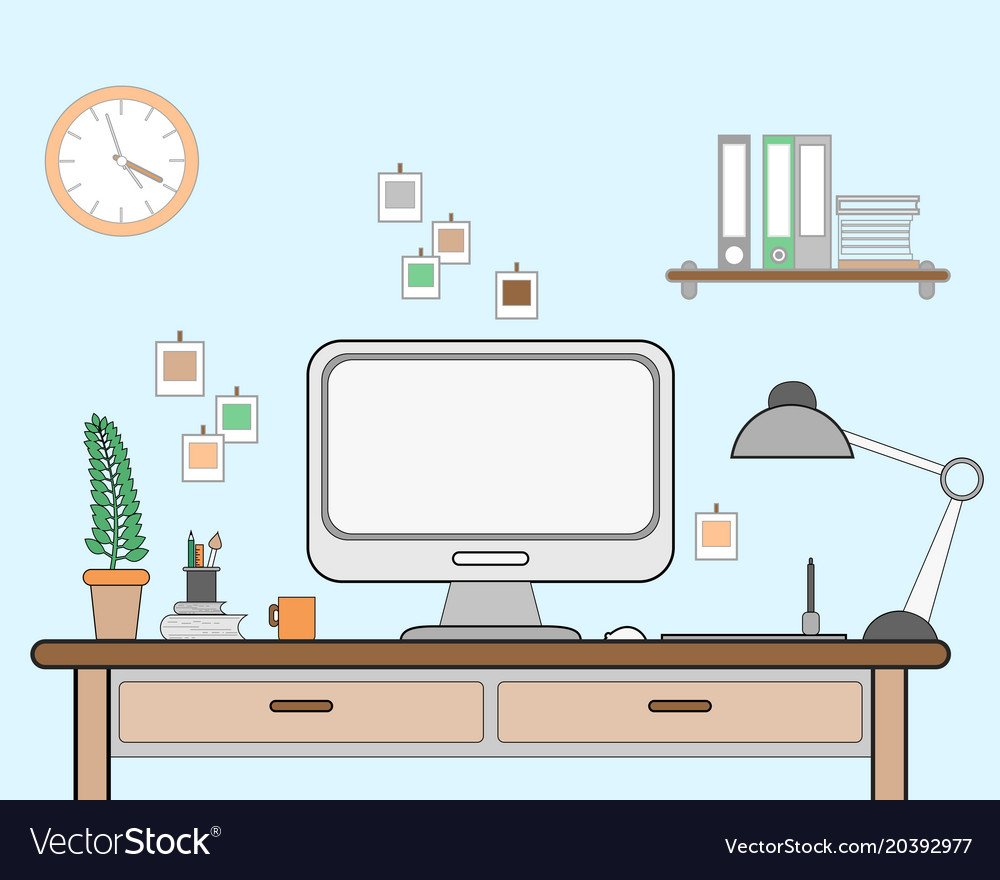 Workspace for freelancer with