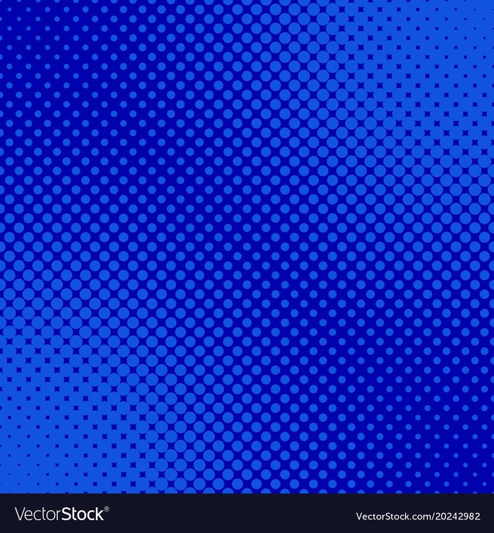 Blue retro halftone dot pattern background vector image