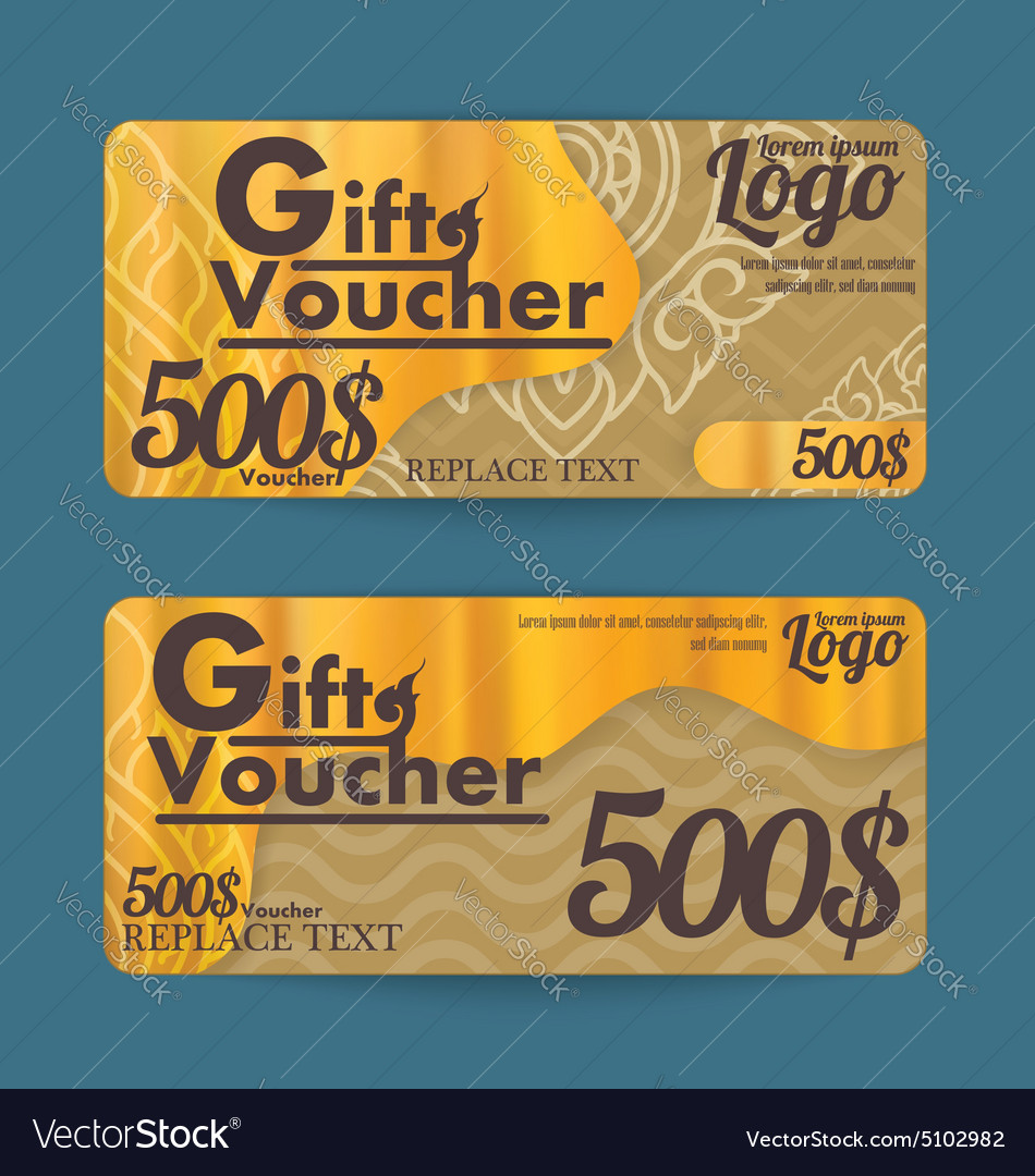 Gift Certificate Voucher Template With Line Thai A