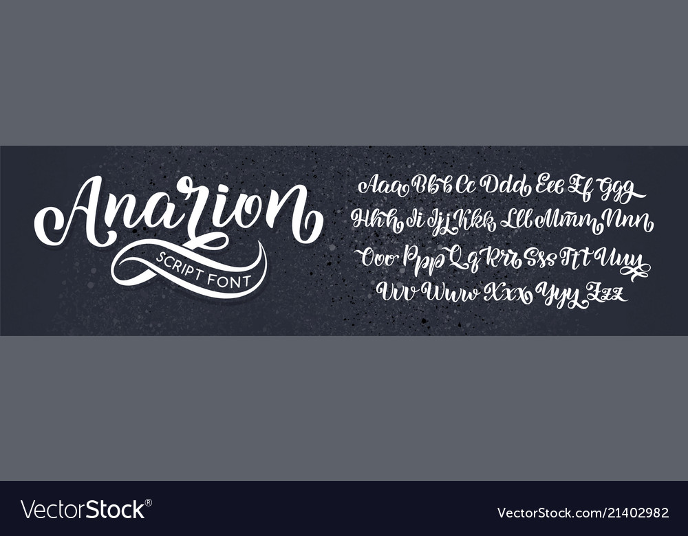 Hand drawn typeface brush painted letters