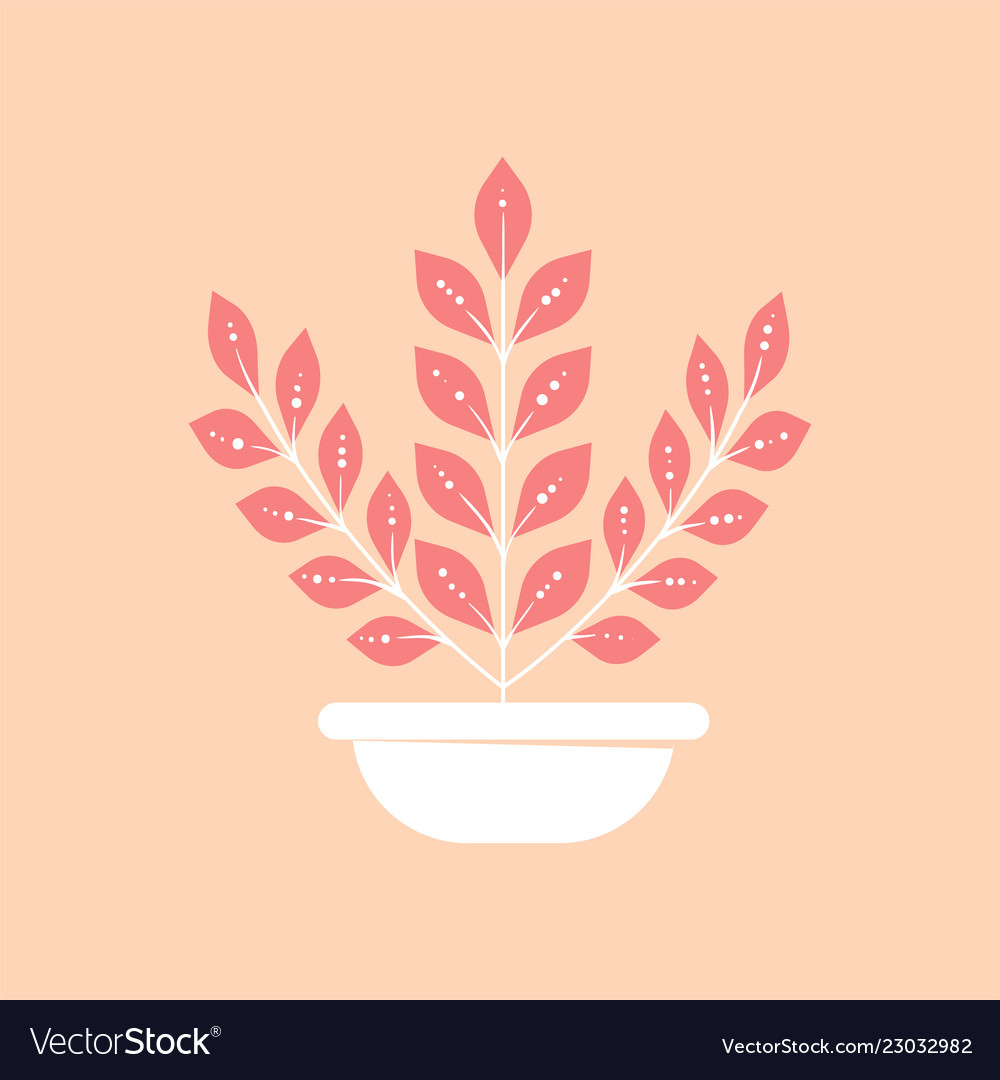 Home plant in pot icon minimal modern style